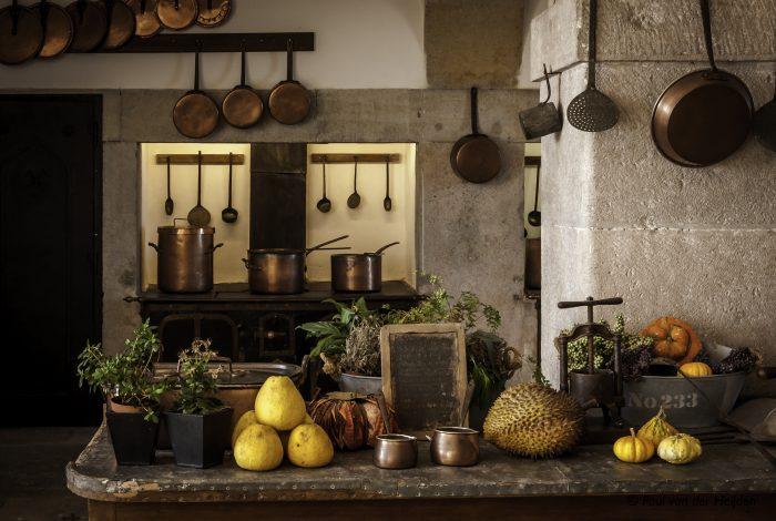 Keuken van kasteel van Sintra, Portugal