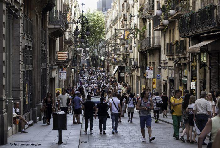 Straat, Barcelona, Spanje