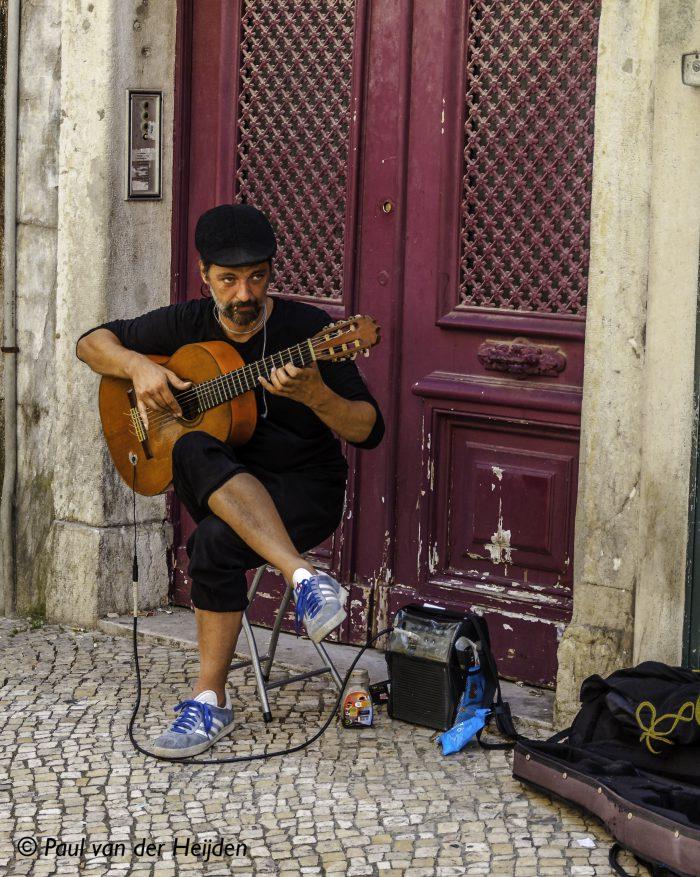 Straatmuzikant, Lissabon, Portugal