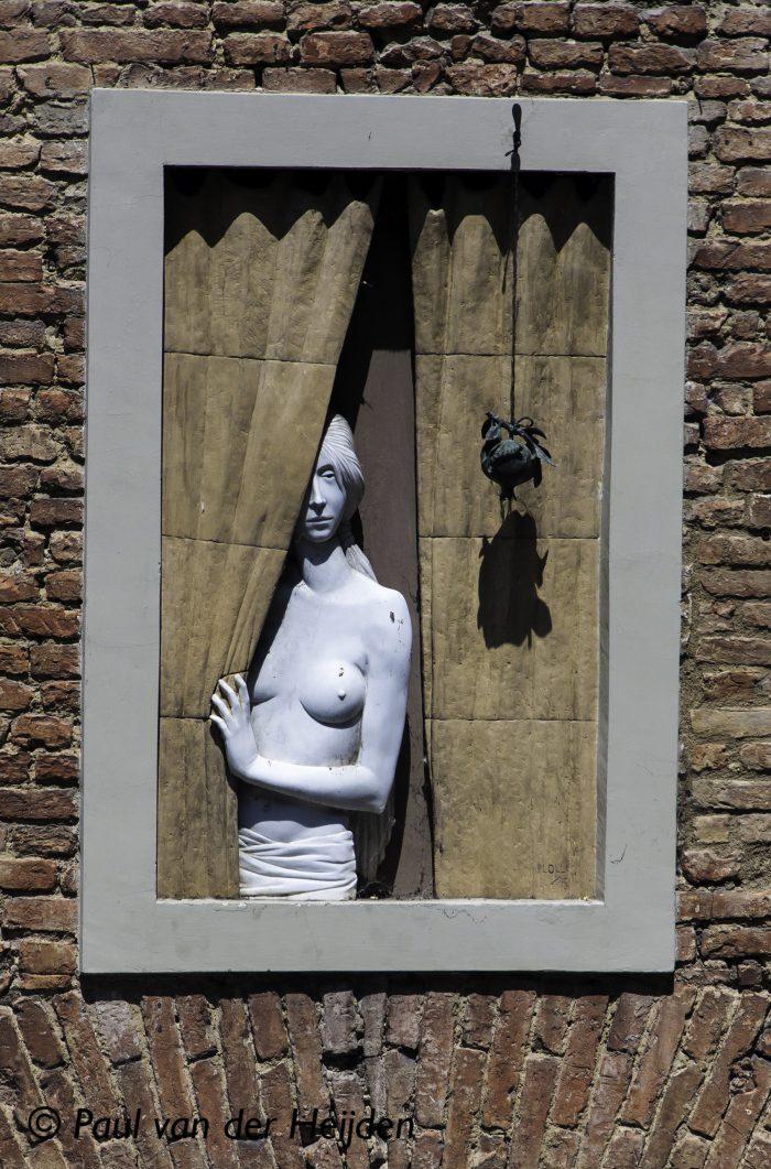 Beeld in het raam, Sienna, Italië